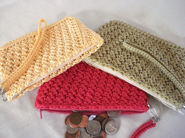 Tulips Purse Pattern Rippled Shells Crocheted Purse Pattern Raised ...
