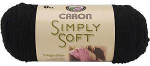 Caron Simply Soft Black Yarn