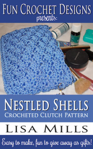 The Nestled Shells Crocheted Clutch Pattern on Amazon