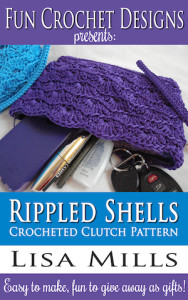 The Rippled Shells Crocheted Clutch Pattern on Amazon