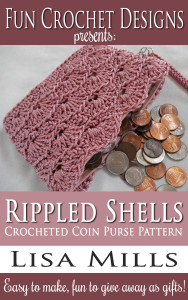 The Rippled Shells Crocheted Coin Purse Pattern on Amazon