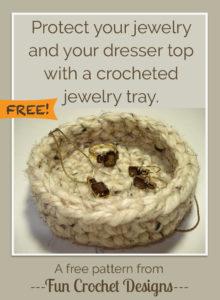 Free Crocheted Jewelry Tray Pattern