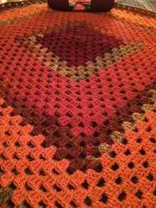 Lapghan crocheted for charity