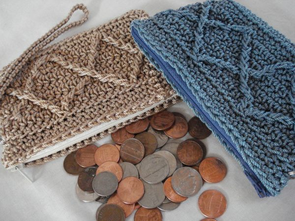 Raised Diamonds Coin Purse Pattern