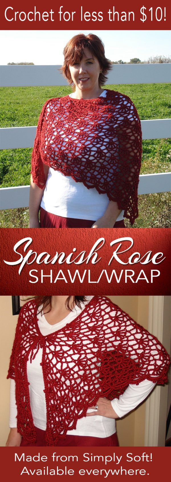 Spanish Rose Shawl / Wrap at Fun Crochet Designs