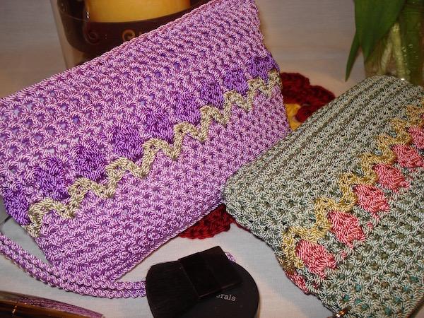 Purple Tulip Clutch