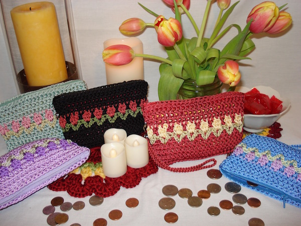 Tulips Coin Purse Cluster